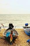 Конец шхуны песка вверх по шлюпке моря Стоковые Фотографии RF
