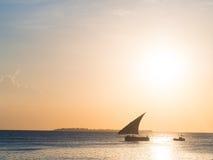 Конец шлюпки доу на Занзибаре Стоковое Фото
