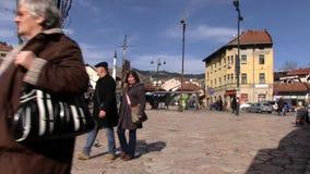 Конец Bascarsija людей вверх сток-видео