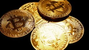 Конец Bitcoin вверх акции видеоматериалы