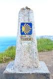Конец Camino de Сантьяго Стоковое Изображение