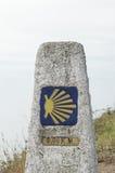 Конец Camino de Сантьяго Стоковые Фотографии RF