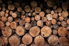 Конец Firewoods вверх Стоковое Изображение RF