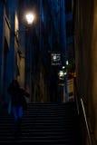 Конец Fleshmarket в Эдинбурге, Шотландии Стоковое Фото