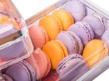 Конец Macarons француза вверх по взгляду VIII Стоковые Фото