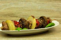 Конец shashlik говядины фотоснимка Стоковые Фото