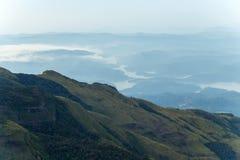 Конец World's в Horton упрощает национальный парк, Цейлон, Азию, Sri стоковые изображения rf
