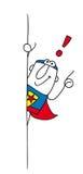 Конечно супергерой Стоковое Изображение