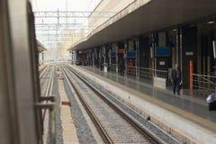 Конечные станции железнодорожное Sation, от поезда Рима Италии Стоковое Фото