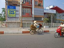 коническая женщина вьетнамца шлема Стоковые Изображения