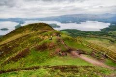 Конические холм и Loch Lomond, Шотландия стоковое фото