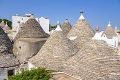 Конический sof крыши trullis в Alberobello Стоковая Фотография