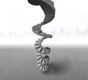 конкретная винтовая лестница Стоковая Фотография RF