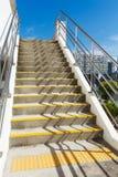 Конкретная лестница стоковое фото
