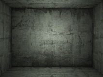 конкретная зеленая grungy комната Стоковые Фото