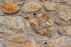 Конкретная и каменная стена с трубами Стоковое фото RF