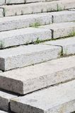 Конкретная лестница на входе к зданию Лестницы идя вверх раскосно стоковая фотография rf