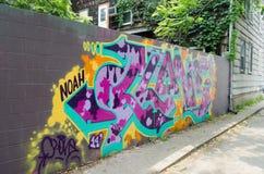 конкретная стена надписи на стенах Стоковое Изображение