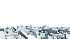 конкретная стена разрушения debris бесплатная иллюстрация