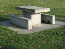 конкретная таблица пикника Стоковые Изображения RF
