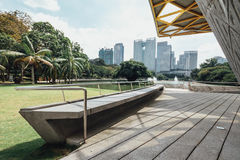 Конкретное место павильона сада в садах ` s Perdana Куалаа-Лумпур ботанических в Jalan Tembusu, Малайзии Стоковые Фото