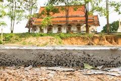 Конкретное строительство дорог Стоковая Фотография RF