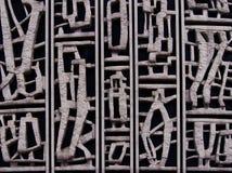 Конкретные детали на старый строить 1960s Стоковые Фото
