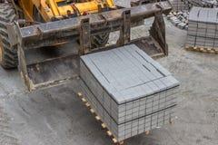 Конкретные камни для мостоваой тротуара Стоковые Изображения RF