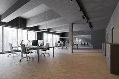 Конкретные промышленные офис и зал ожидания стиля иллюстрация штока