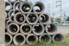 Конкретные трубы дренажа для промышленного sta строительной конструкции Стоковые Изображения