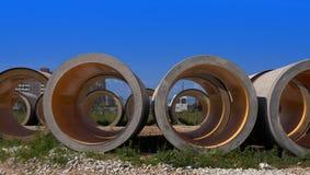 конкретные трубы Стоковые Фото