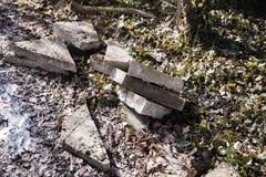 Конкретные части для пути сада Стоковая Фотография RF