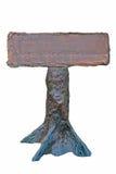 конкретный столб направляющего выступа конструкции деревянный Стоковое фото RF