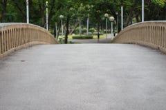 Конкретный footbridge с искусственными перилами ветви Стоковые Фото