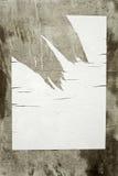 конкретным пустым стена сорванная плакатом Стоковые Фото