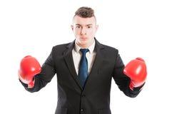Конкуренты бизнесмена трудные Стоковое Изображение