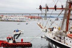Конкуренты висят на вьсоте на Stavanger высокорослые гонки Стоковые Фотографии RF