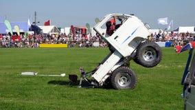 Конкурент в выставке эффектного выступления мотора Спорт случай выставка Стоковое Изображение