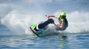 Конкурент лыжи двигателя Стоковые Изображения RF