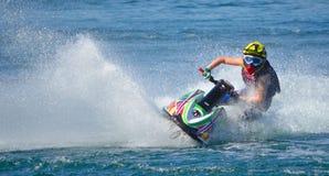 Конкурент лыжи двигателя Стоковая Фотография RF