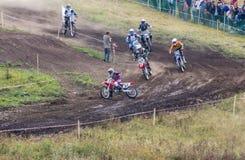 Конкуренции в гонках на мотоциклах Стоковое Фото