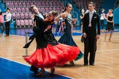 Конкуренции в танцах спорта Стоковые Изображения
