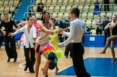 Конкуренции в танцах спорта Стоковые Изображения RF