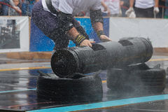 Конкуренции Powerlifting в улице стоковые фотографии rf