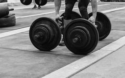 Конкуренции Powerlifting в улице стоковое фото rf