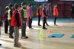 Конкуренция атлетики малышей Стоковые Изображения RF