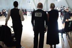 Конкуренция бальных танцев Стоковое фото RF