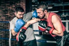 Конкуренция боксеров в кольце Стоковая Фотография RF