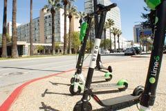 Конкуренция бренда скутера стоковое фото