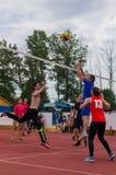 Конкуренция волейбола дилетанта Стоковое фото RF